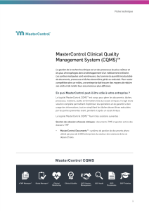 MasterControl Clinical Quality Management System (CQMS)™