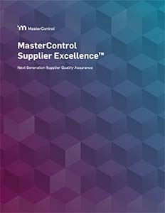 MasterControl Supplier Excellence™ Overview