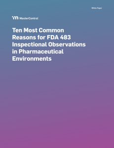 Ten Most Common Reasons for FDA 483 Inspectional Observations in Pharmaceutical Environments