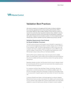 The Evolution of Validation Best Practices
