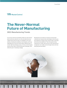 The Never-Normal Future of Manufacturing