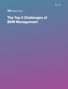 The Top 5 Challenges of BOM Management