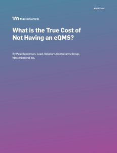 What is the True Cost of Not Having an EQMS?
