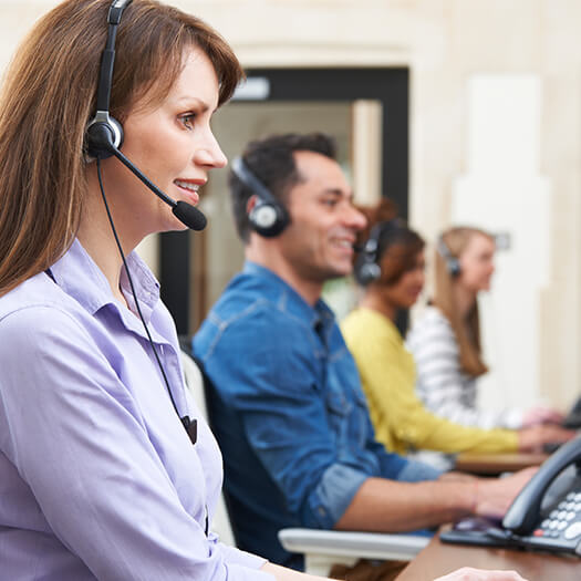 Customer support with headsets