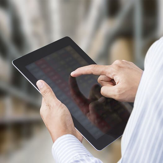 Business person using a tablet