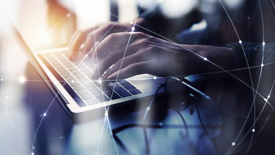 Laptop visual of platform integration