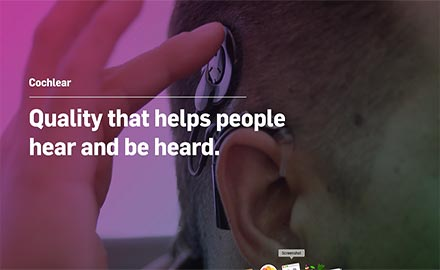 Cochlear - Quality that helps people hear and be heard-SF
