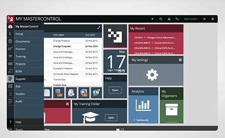 Demo MasterControl Supplier Software